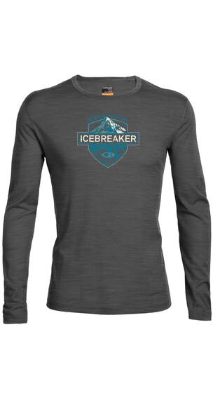 Icebreaker Oasis LS Crewe Men Alpine Crest jet hthr/alpine